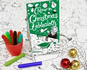 ColourInChristmasTablecloth