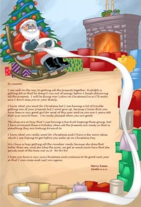 Personalised Christmas Santa Letter