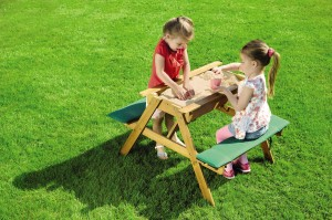 CHILDRENS GARDEN TABLE WITH SANDPIT