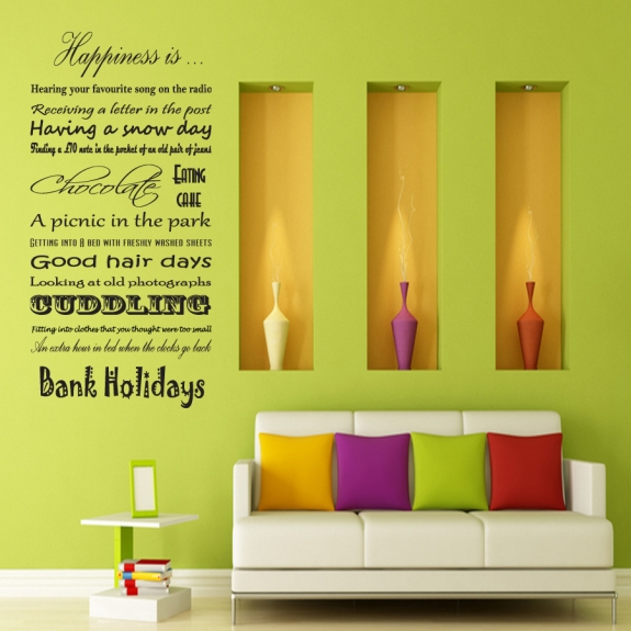 Almo Wall Art Happiness Is… Vinyl Wall Sticker Review   What\'s Good ...